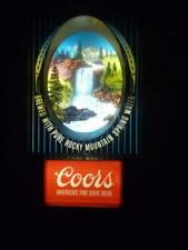Vintage Coors Beer Bar Lighted Sign Motion Lamp Moving Waterfall Rare