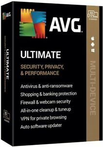 AVG ULTIMATE 2021 | 2 YEARS - 10 DEVICES. Electronic Delivery!