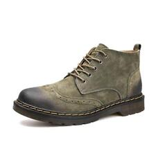 outdoor mens high top Loafers Casual Leather Lace Up Chelsea casual Ankle Boots