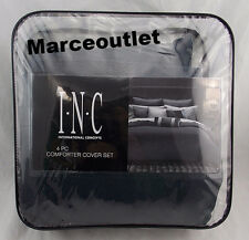I.N.C International Concepts Rizzoli Midnight 3 Piece TWIN Duvet Cover Set Blue