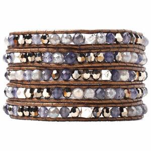 Chan Luu Iolite Mix Wrap Bracelet, Women's