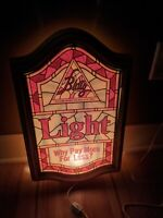 Vintage Blatz Light Beer Lighted Bar Sign  Advertisement