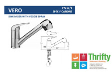 Novelli Vero Pull Out Sink Mixer Chrome with Vegi Spray