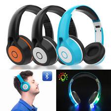 Bluetooth Wireless Headphones Earbuds Stereo Earphone Headset LED light UP MIC