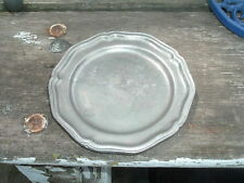 """Vintage 7"""" Pewter Plate Queen Anne Colonial York Metalcrafters Pennsylvania"""