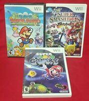 Mario Galaxy, Paper Mario, Super Smash Bros. Brawl - Nintendo Wii Wii U Game Lot