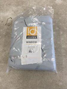 "Luxury Grey Geometric Metallic Silver BLACKOUT Window Panel- 50x84"""