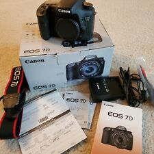 Canon EOS 7D 18.0 MP Digital SLR Camera, Low shutter count, Exc!!!!!