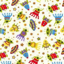 Aliens & spaceships polycotton 1 metre