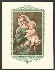 Vintage 1944 Christmas Card Christ Child Old 1 1/2 cent Stamp & Christmas Seal