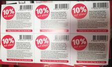 60 Stück 10 % Rossmann Rabatt Coupon Coupons Gutschein Gutscheine bis 28.02.18