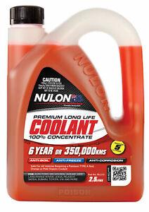 Nulon Long Life Red Concentrate Coolant 2.5L RLL2.5 fits Kia Rio 1.4 CVVT (UB...