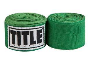 """Title Boxing 180"""" Semi Elastic Mexican Handwraps - Green"""