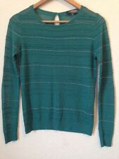 Limited Collection At M&S Size 12 Green Sheer Thin KnitJumper <BC456