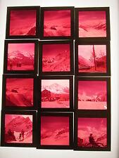 Lot VTG 120mm Medium Format Color Slides Jungfrau Switzerland Alps Alpenhorn 60s
