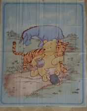 Brand New Classic Winnie The Pooh Cot Quilt Panel