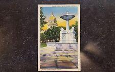 Vintage Postcard Havana Cuba Close Up of Lions Fountain Capitol