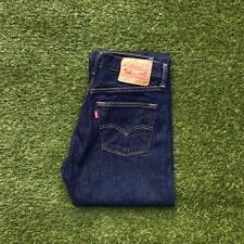 LEVIS 501 Womens Jeans 29 x 27 Dark Wash Button Fly Straight Leg