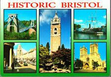 Unused Postcard, Historic Bristol, Multiview