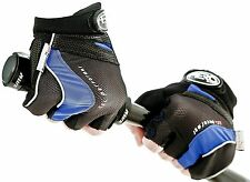 Aero Sport® Gel 3M Scotchlite Fingerless Track Mitts Blue/Black Small