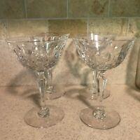 Vintage Elyse Tiffin Franciscan Crystal Champagne Sherbet Glasses Set of 4