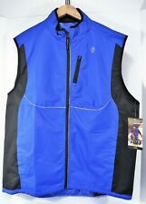 GOLDS GYM Men's Full Zip Outdoor Cycling Running Reflective Vest Jacket L / XL