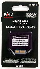 Kato 22-202-1 UNITRACK Sound Card (4-8-4 FEF-3/ GS-4) (N scale)