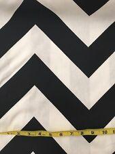 Chevron - Premier Prints Fabric - Black White - Per Metre
