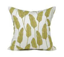 "Kdays Botanical Yellow Oatmeal Pillow Cover Decorative - Feathers 20""x20"""