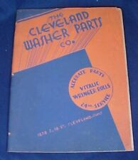 1937 Cleveland Washer Parts Catalogue Wringer Rolls Whirlpool Speed Queen Getz