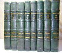 Lot de 8 livres anciens de Walter Scott. Traduit par Defauconpret. 1839