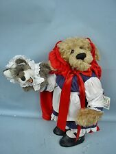 "Randie Bortnem 19"" Red Riding Hood Bear With Wolf Puppet #11 of 30"