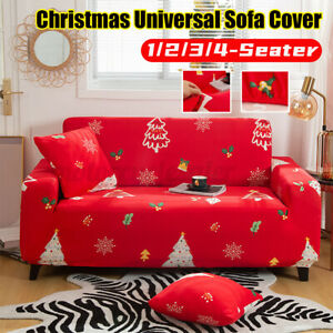 1/2/3/4 Seater Christmas Elastic Universal Non-slip Sofa Cover Couch Protecto