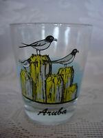 Collectible ARUBA Sea Gulls / Birds Glass Shot Glass - NEW