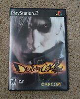 ORIGINAL CASE AND MANUAL ONLY Devil May Cry 2 Black Label Playstation 2 PS2 Sony