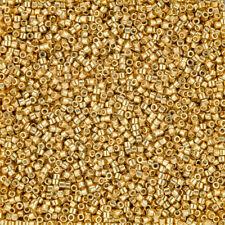 Miyuki Delica Size 11/0 Seed Beads DB1832 Duracoat Galvanized Gold DB1832 7.2g