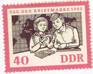 Germany DDR Communist Youths Pioneers Scouts Map philatelists stamp 1962 MLH