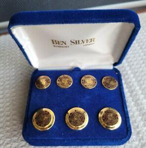 University of Minnesota Ben Silver Set Blazer Button Box Gold Tone