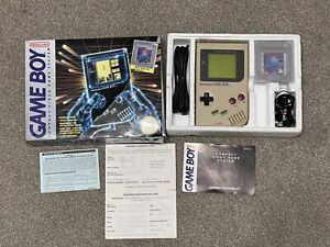 Orignal Nintendo Gameboy In Box With Earphones And Paperwork