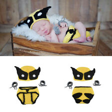 Newborn Baby Boys Wolverine Crochet Knit Costume Photo Photography Prop Outfit