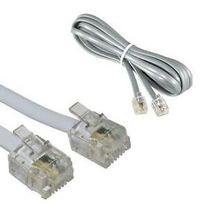 Grey RJ11 cable 2m