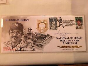 1993 Reggie Jackson Autographed HOF Induction Cachet.