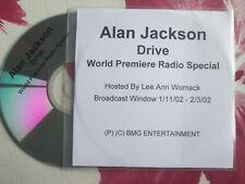 Alan Jackson Drive BMG Entertainment World Premiere Radio  UK Promo CD Single