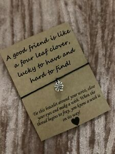 💕Friends Are Hard To Find Friendship Quote Wish bracelet/anklet Gift Present 💕