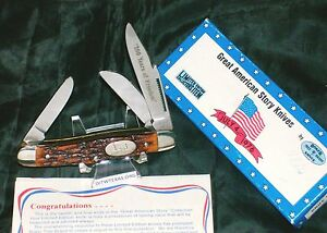 """Boker USA Knife Great American Story """"4th of July"""" Rare W/ Packaging,Paperwork"""