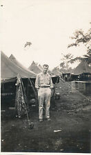WWII 1944 341st Fighter Squadron Nomefoor NEI  photo Peter, camo gear, tents