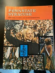 Lot of Penn State Football Programs - 1972