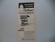 advertising Pubblicità 1961 TORTELLINI BERTAGNI