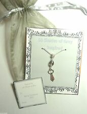 50 Fifty Shades of Grey Inspired Necklace Crystal & Mr Grey's Tie Gift Bag +Tag