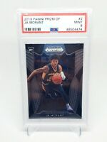 2019-20 Panini Prizm Draft Picks JA MORANT Rookie RC #2, Graded PSA 9 Mint